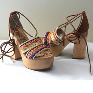 Sam Edelman Platform Lace Up Heels